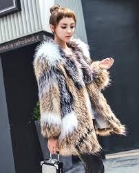 knitted rac fur fox fur jacket 930a