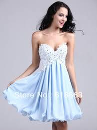 Light Blue Semi Dress Lh00052 Light Blue Sweetheart A Line Sexy Short 8th Grade