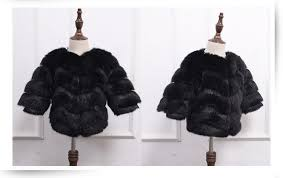 new children s faux fur coat winter girls fur outerwear toddler baby girls jacket warm clothes