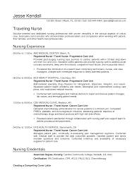 Example Of Resume For Nurses