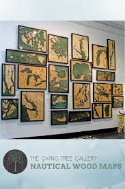 Wood Bathymetric Charts Nautical Wood Maps Are 3d Underwater Topographic Wooden Maps