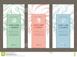 Cosmetic Label Design Template Vector Set Of Templates Color Packaging Hair Care Cosmetic