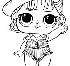 Lol Dolls Coloring Pages Unicorn Lol Surprise Doll