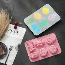 DIY Baking Tools Cartoon Figures Fondant <b>Cake Mold</b> Chocolate ...