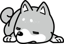 爆睡 かわいい白黒の犬イラスト無料82870 素材good