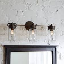 industrial bathroom lighting. allen roth 3light vallymede aged bronze bathroom vanity light model b10019 industrial lighting