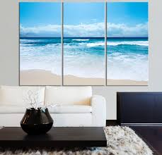 large wall art ocean beach and wave canvas print seascape scenery 3 panel canvas art on 3 panel wall art beach with large wall art ocean beach and wave canvas print seascape scenery