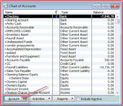 Chart Of Accounts The Ledger Online