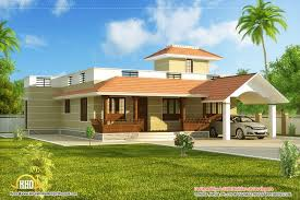 Small Picture designs of single story homes Single story Kerala model house