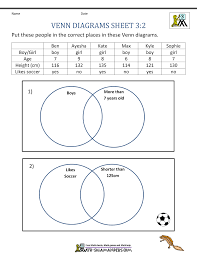 Venn Diagram Problem Solving Venn Diagram Worksheets 3rd Grade 3 Math Criabooks