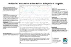 sample press release template press release wikipedia
