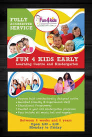 Child Care Brochure Design Flyer Design Design 4101048 Submitted To Child Care