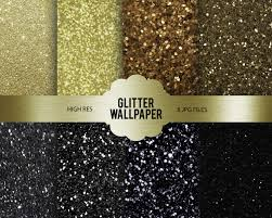 Digitale Gold Black Glitter Wallpapers Glitter Behang Etsy