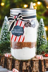 peppermint brownies in a jar mix