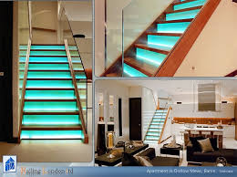 staircase led lighting. stairs with glass risers and led lights modernstaircase staircase led lighting