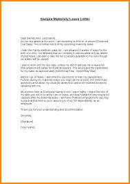 Example Of Maternity Leave Letter For Employer Filename Reinadela