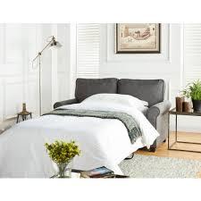 mainstays 57 loveseat sleeper with memory foam mattress grey com