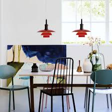 lighting over a dining room table ph 3 pendant by louis poulsen