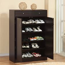 shoe furniture. furniture of america 5shelf shoe cabinet with 2 storage bins free shipping today overstockcom 11923225