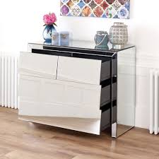 Image of: Mirrored Chest Of Drawers Design