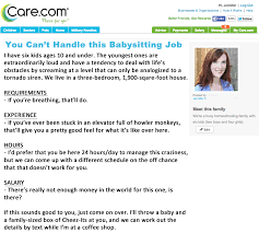 Babysitting Ads If My Babysitting Ad Were Honest Jennifer Fulwiler