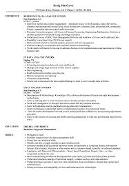 Data Analyst Intern Resume Samples | Velvet Jobs