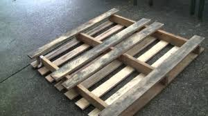 Turn a free shipping pallet into a large garden wooden planter box - YouTube