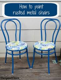 how to repurpose a rusted metal chair