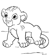 Baby Lion Coloring Pages free printable lion coloring pages for kids on cubs coloring sheets