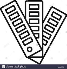 Paper Pantone Color Chart Icon Outline Paper Pantone Color