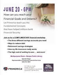Primerica Financial Primerica Financial Workshop 06 20 2016 Nampa Idaho Nampa Public