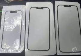 iPhone 13 front panel leak - uses a smaller notch and earpiece at the top -