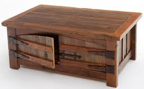 Barn Wood Coffee Table Heritage Collection With Two Doors Photo Gallery