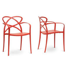 gg baxton studio 5 piece modern dining set 2. baxton studio set of 2 pp-s001-red huxx plastic stackable modern dining chair gg 5 piece