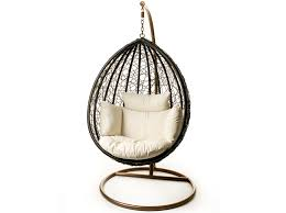 escape patio hanging chair suspended on steel frame for indoor or outdoor use