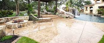 concrete patio with fire pit. Interesting Pit Outdoor Concrete Patio By Poolside With Fire Pit  Harold J Pietig U0026 Sons  Inc And With