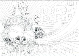 Cute Best Friend Coloring Pages Good For Girls Ng Friends Beautiful