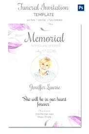 Funeral Invitation Template New Announcement Card Template Memorial Service Funeral Invitation