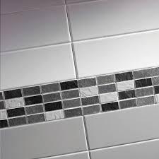 scala black white mosaic tile 25x50mm sheet 300x300mm