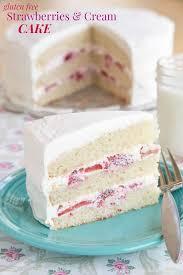 gluten free strawberries and cream cake recipe