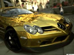 Golden Mercedes HD wallpaper download