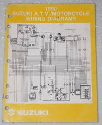 1990 suzuki motorcycle and atv electrical wiring diagrams manual 1990 suzuki motorcycle and atv electrical wiring diagrams
