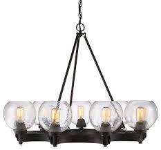 galveston 9 light mini chandelier industrial chandeliers by house lighting design