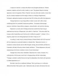 teenage depression research paper zoom