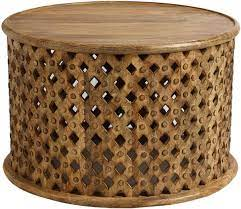 Find something extraordinary for every style, and enjoy free delivery on most items. Round Lattice Carved Wood Coffee Table Decorist