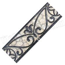 Listellos And Decorative Tile Fashion Accents 60 X 60 Wrought Iron Beige Listello FA600 Dal 4