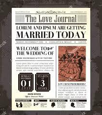Newspaper Template Indesign Indesign Wedding Template Vintage Newspaper Templates Album
