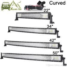 50 Inch Cree Curved Light Bar 22 42 50 Inch Tri Row Curved Cree Led Light Bar Offroad Work Lights Combo Beam Truck Suv Atv 4x4 4wd Utv Rzv Trailer Driving Barra Lamp Led Bulbs