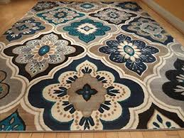 new modern blue gray brown 8 11 rug area rug casual 8 10
