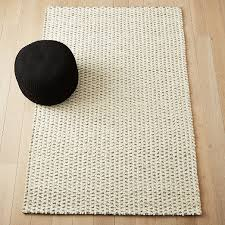 interlock black and white jute rug